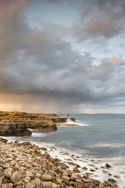 Wall Art - Photograph - Sunset Storms At Portland Bill by Chris Frost