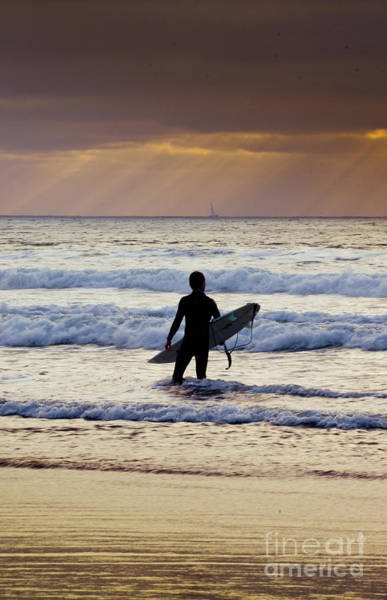 Wall Art - Photograph - Sunset Surfer by Kelly Wade