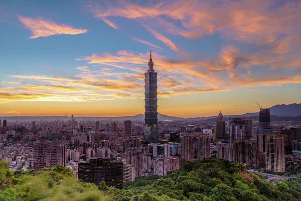 Taiwan Photograph - Sunset by Taipei, Taiwan  By  Balmung
