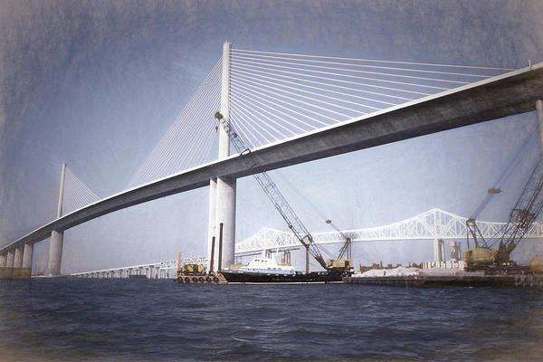 Tampa Digital Art - Sunshine Skyway Bridge II by Richard Rizzo