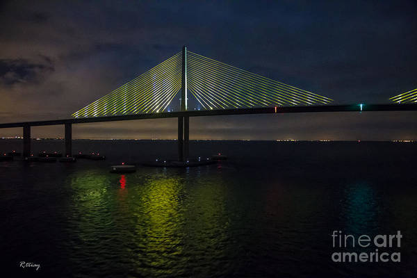 I-75 Photograph - Sunshine Skyway Bridge Tampa Florida by Rene Triay Photography