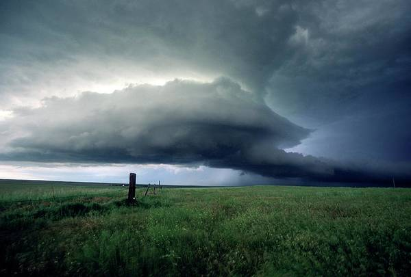 Grey Cloud Photograph - Supercell Thunderstorm by University Corporation For Atmospheric Research/ Science Photo Library