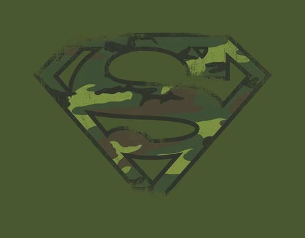 Metropolis Digital Art - Superman - Distressed Camo Shield by Brand A