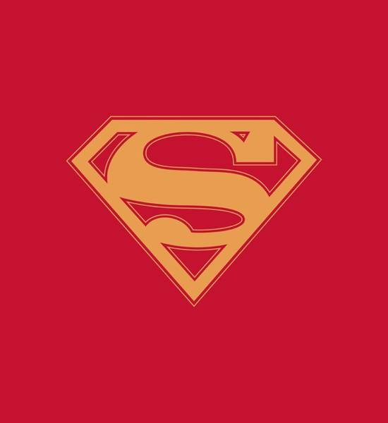 Kent Wall Art - Digital Art - Superman - Red And Gold Shield by Brand A