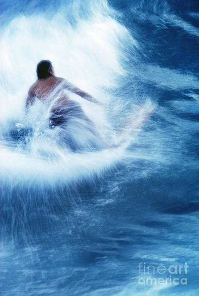 Wall Art - Photograph - Surfer Carving On Splashing Wave, Interesting Perspective And Blur by Carl Shaneff