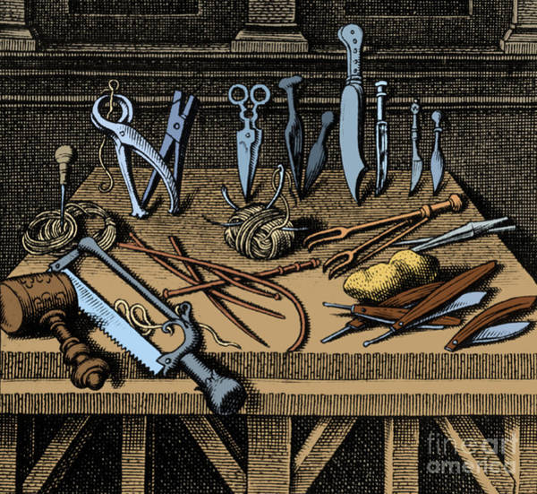 Photograph - Surgical Equipment 16th Century by Science Source