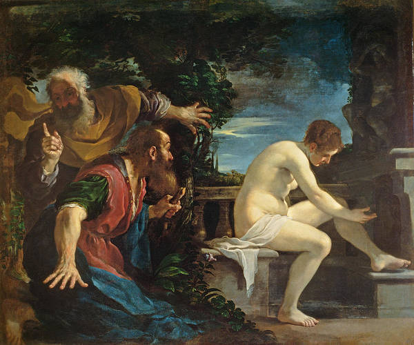 Lust Wall Art - Photograph - Susanna And The Elders by Guercino