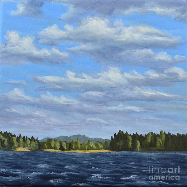 Painting - Swedish Summer Lake by Ric Nagualero