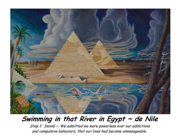 Denial Painting - Swimming In That River In Egypt by Matt Konar