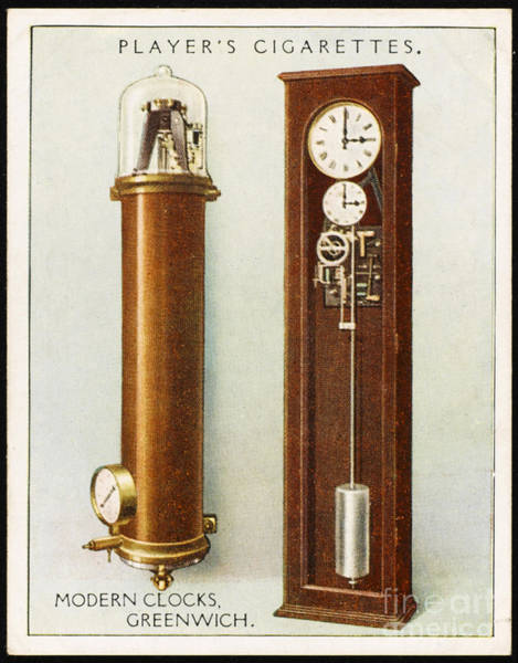 Photograph - Synchronome Free Pendulum Clock by Mary Evans