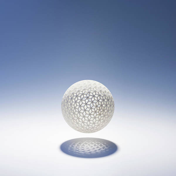 Printing Photograph - Synthetic Material Hollow Sphere by Gregor Schuster