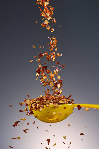 Cuisine Photograph - 1 Tablespoon Red Pepper Flakes by Steve Gadomski