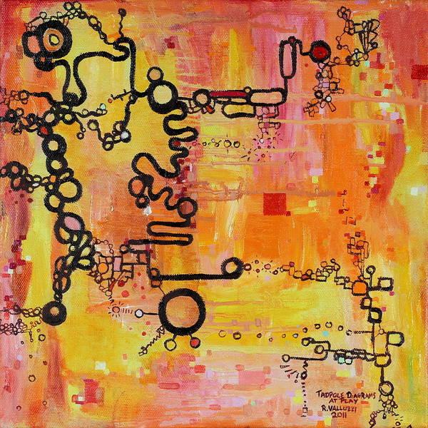 Painting - Tadpole Diagrams At Play by Regina Valluzzi