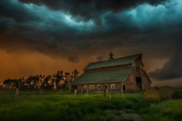 Barn Storm Wall Art - Photograph - Take Shelter by Aaron J Groen