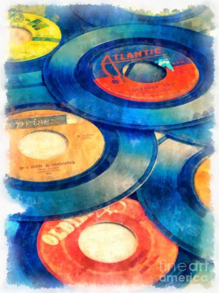 Record Album Wall Art - Photograph - Take Those Old Records Off The Shelf by Edward Fielding