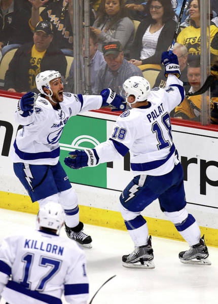 Nhl Players Photograph - Tampa Bay Lightning V Pittsburgh by Justin K. Aller