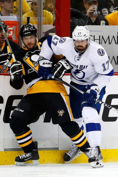 Tampa Bay Lightning V Pittsburgh Penguins - Game Seven Art Print by Justin K. Aller