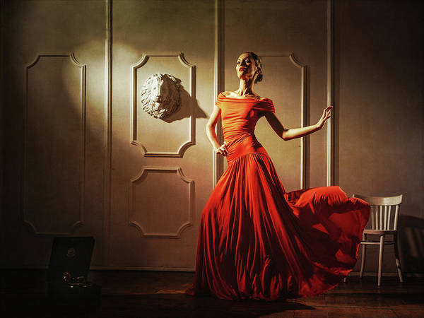 Red Dress Wall Art - Photograph - Tango by Sergei Smirnov