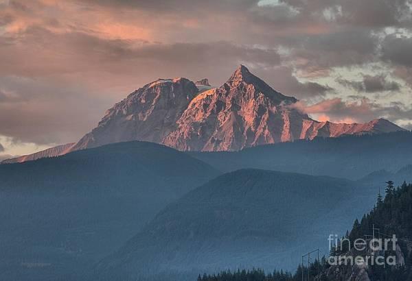 Photograph - Tantalus Mountain Sunset - British Columbia by Adam Jewell