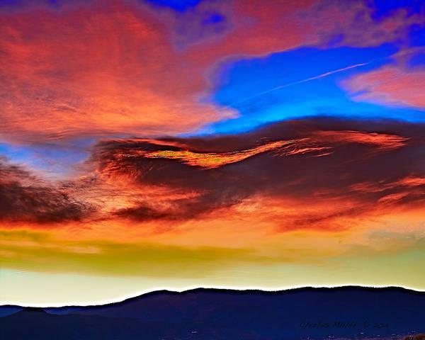 Photograph - Taos Sunrise  by Charles Muhle