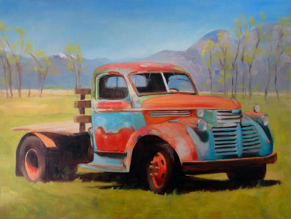 Painting - Taos Truck by Elizabeth Jose