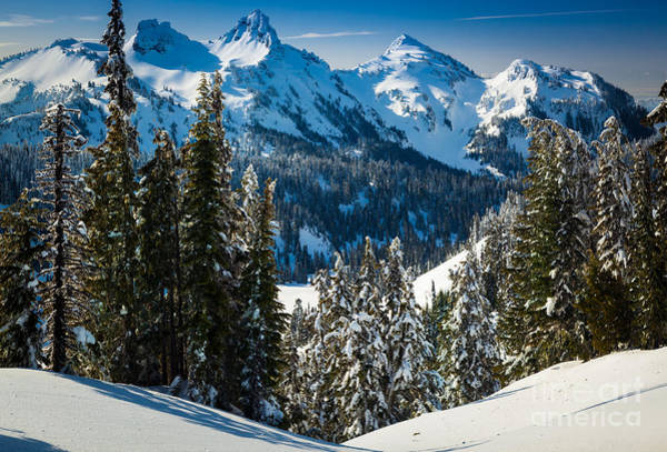 Mount Rainier Photograph - Tatoosh Winter Wonderland by Inge Johnsson