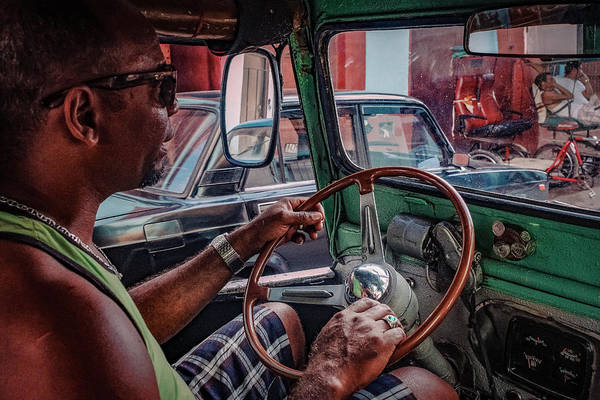 Steering Wheel Wall Art - Photograph - Taxidriver by Andreas Bauer