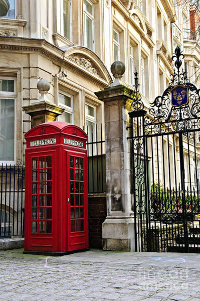 English Photograph - Telephone Box In London by Elena Elisseeva