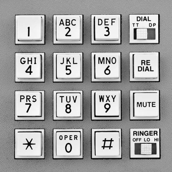 Photograph - Telephone Touch Tone Keypad by Jim Hughes