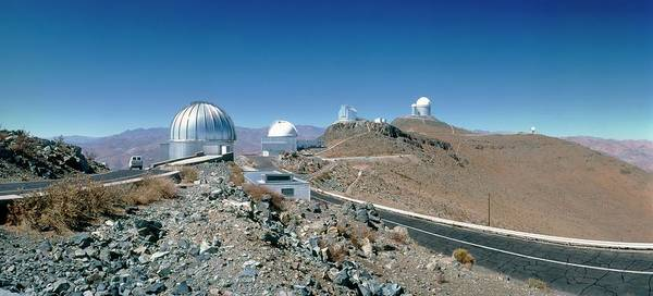 Wall Art - Photograph - Telescope Domes At La Silla Observatory by David Parker/science Photo Library