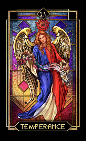 Wall Art - Drawing - Temperance by MGL Meiklejohn Graphics Licensing