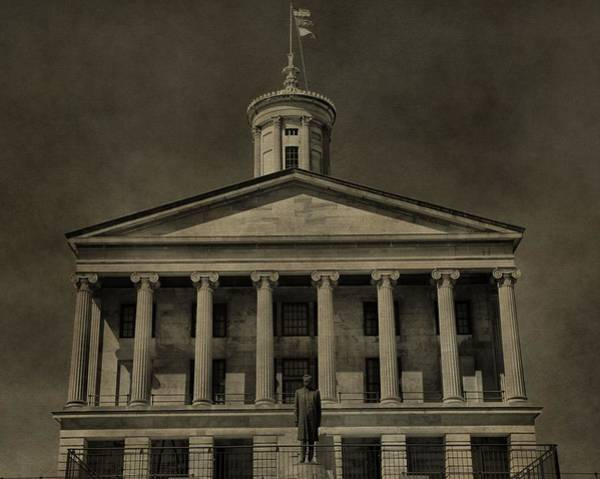 Greek Revival Architecture Photograph - Tennessee Capitol Building by Dan Sproul
