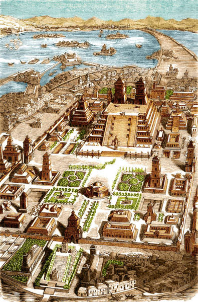 Wall Art - Photograph - Tenochtitlan, Aztec City-state by Science Source