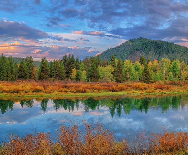 Photograph - Teton Autumn Triptych Center Panel by Greg Norrell