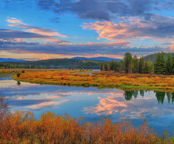 Photograph - Teton Autumn Triptych Left Panel by Greg Norrell