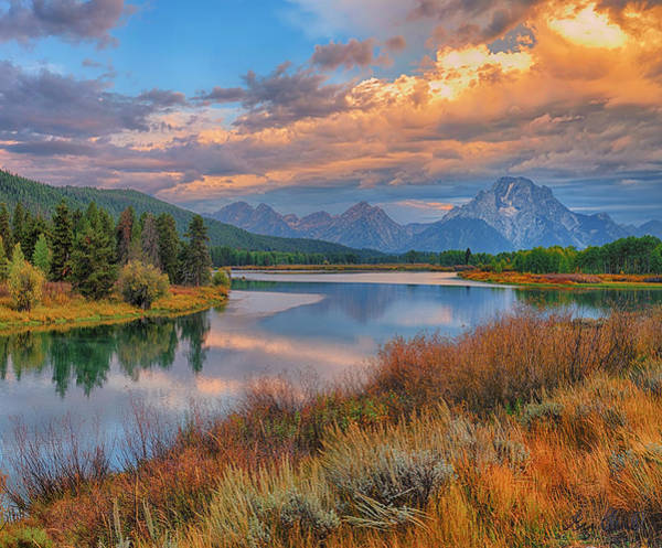 Photograph - Teton Autumn Triptych Right Panel by Greg Norrell