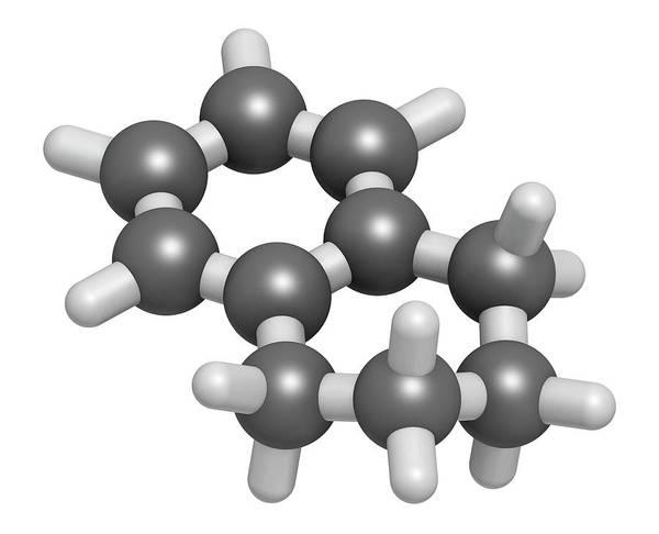 3d Model Photograph - Tetralin Solvent Molecule by Molekuul