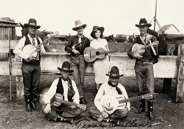 Photograph - Texas Outlaws Band by Underwood Archives