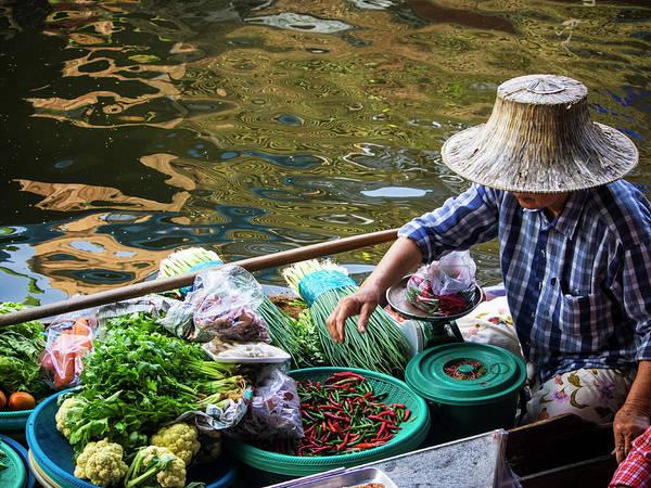 Wall Art - Photograph - Thailand, Bangkok, Floating Market by Terry Eggers