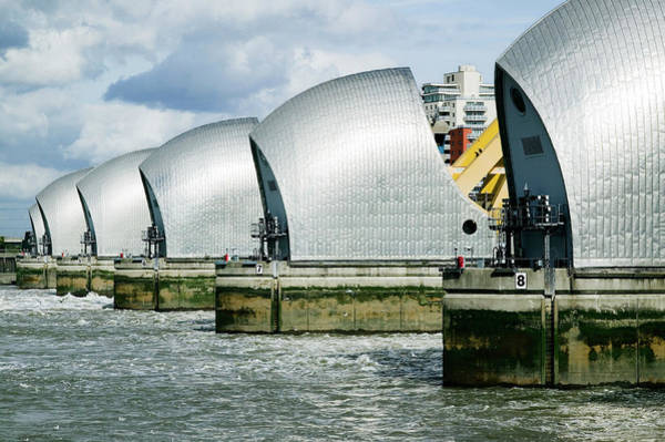 Wall Art - Photograph - Thames Flood Barrier With Gates Closed by Gustoimages/science Photo Library