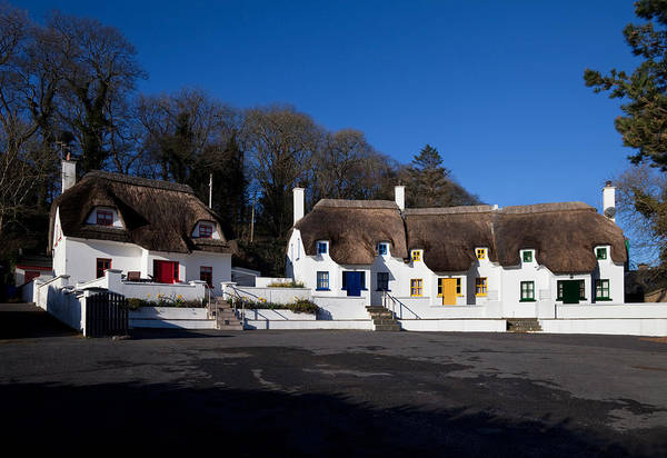 Dunmore East Photograph - Thatched Cottages Near Dunmore Strand by Panoramic Images