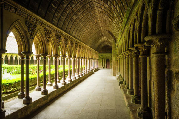Wall Art - Photograph - The Abbey Cloister, Mont Saint-michel by Russ Bishop