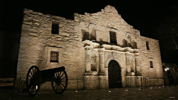 Spanish Mission Photograph - The Alamo Remembered by Stephen Stookey