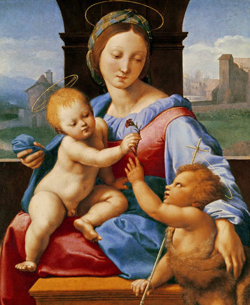 Carnation Painting - The Aldobrandini Madonna Or The Garvagh Madonna  by Raphael