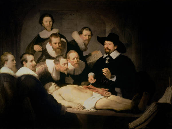 Painting - The Anatomy Lesson Of Dr Nicolaes Tulp by Celestial Images