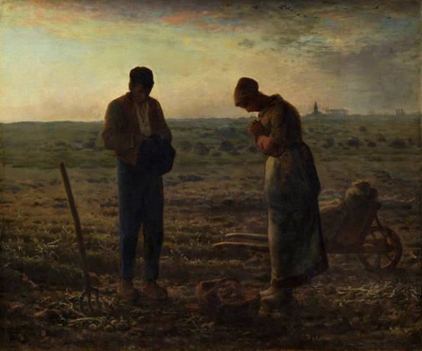 Wall Art - Painting - The Angelus by Jean Francois Millet