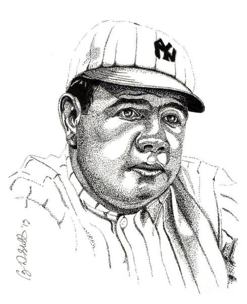 Babe Drawing - The Babe by Cory Still