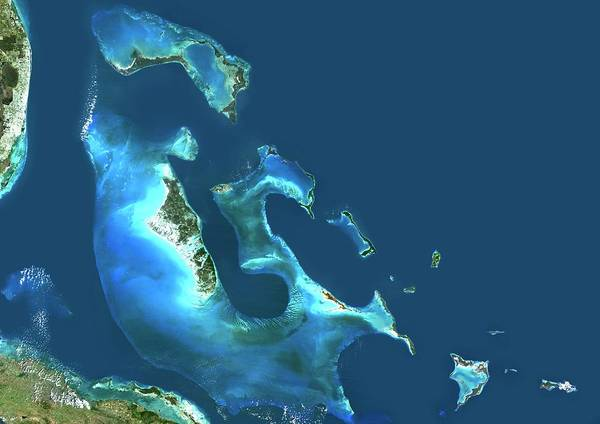 Andros Photograph - The Bahamas by Planetobserver/science Photo Library