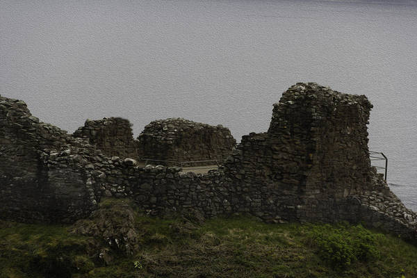 Castles Of Scotland Digital Art - The Battered Remains Of The Urquhart Castle In Scotland by Ashish Agarwal