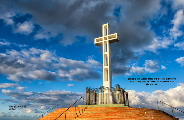 Mount Soledad Wall Art - Photograph - The Beatitudes by Joseph S Giacalone